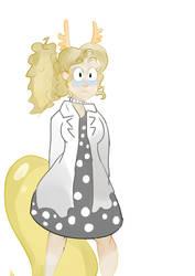 Alphys Lizzie by blinxnot