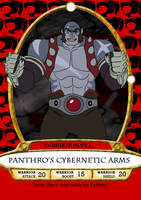 Panthro's Cybernetic Arms Spell Card by RetroUniverseArt