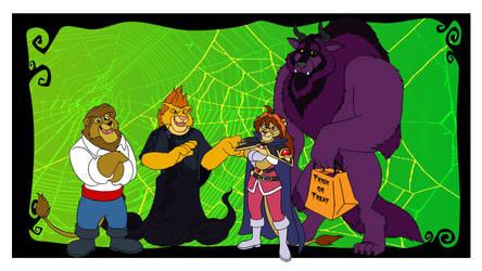 LKHFF Halloween Wallpaper 2012 by RetroUniverseArt