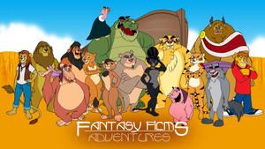 Fantasy Films Adventures Wallpaper 002 by RetroUniverseArt