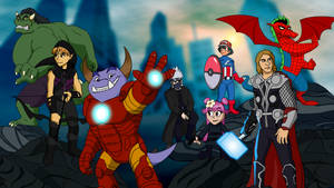 Commission - Fantasy Avengers by RetroUniverseArt