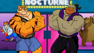 Buff Bodied Bouncers by RetroUniverseArt