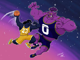 Welcome to the Space Jam by RetroUniverseArt