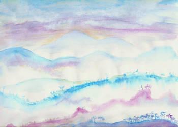 Misty Mountain Peaks by ShenaniBOOM