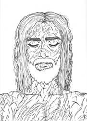 Jesus-His Burial (Line Art) by ShenaniBOOM