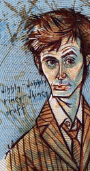 David Tennant Final Sketch by littlecrow