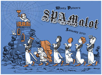 Spamalot Cast Card by littlecrow