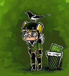 Kid Loki by littlecrow