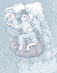 Sherlock and Mycroft doodle by littlecrow