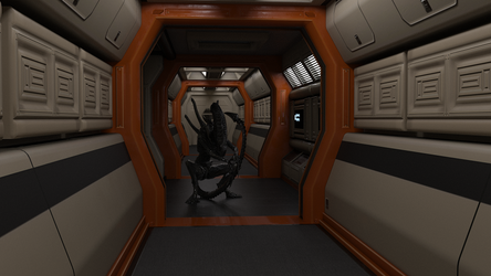 Alien Nostromo Corridor Test by Sentinalysis