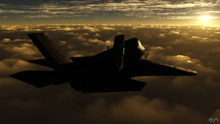 F-35 - Sunlit Horizon (Dry Brush) by Sentinalysis