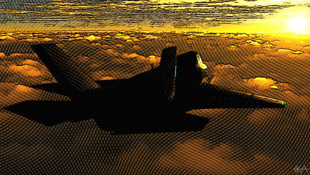F-35 - Sunlit Horizon (Comic) by Sentinalysis
