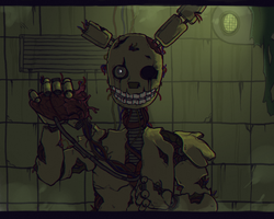 Five nights at freddy's ( Springtrap ) by ginushka123456789