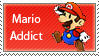 Mario Addict Stamp by SugarJem