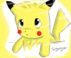 Pikachu by SugarJem