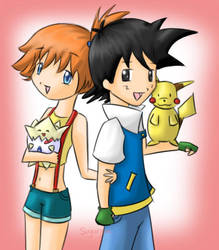 Ash and Misty by SugarJem