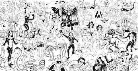 The Legion of Monsters(3 page spread) by roryherman