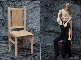 A chair for SD BJD dolls by scargeear