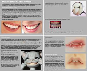 Painting realistic teeth tutorial by scargeear