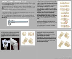 Make fitting joints for a doll - tutorial by scargeear