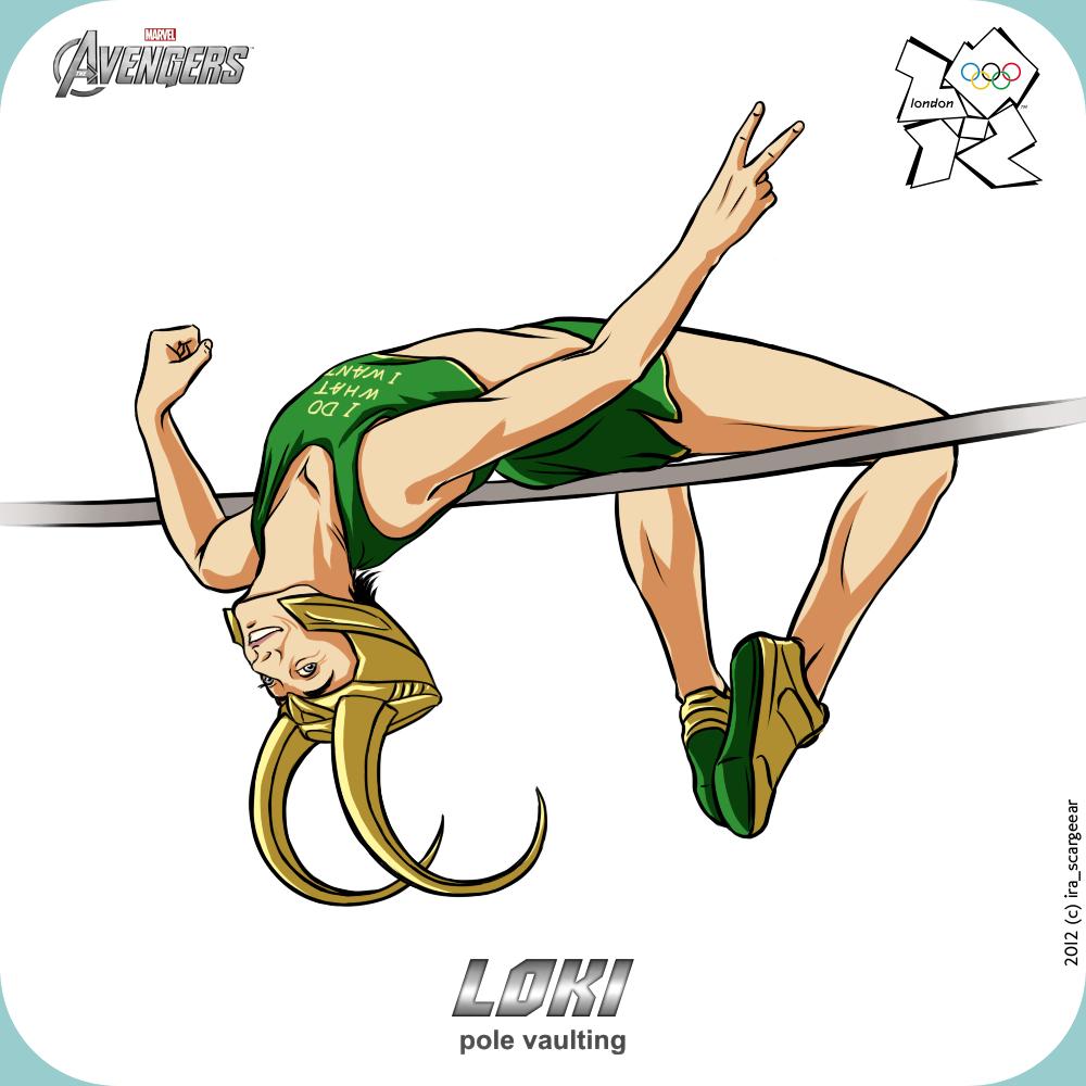 Olympics-2012: Avengers - Loki by scargeear