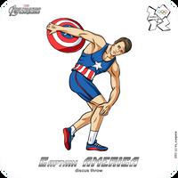 Olympics-2012: Avengers - Captain America by scargeear