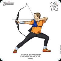 Olympics-2012: Avengers - Hawkeye by scargeear