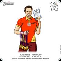 Olympics-2012: Avengers - Iron Man aka Tony Stark by scargeear