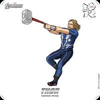 Olympics-2012: Avengers - Thor by scargeear