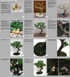 Making tiny bonsai tree tutorial by scargeear