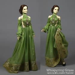 Green BJD Romantic/Fantasy Outfit by scargeear