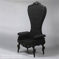 Rococo style BJD armchair by scargeear