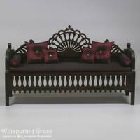 Moroccan sofa 1/4, 42 cm long. by scargeear