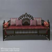 Moroccan sofa 1/3, 65 cm long. by scargeear