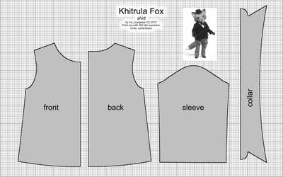 Khitrula Fox Shirt Pattern by scargeear