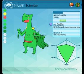 Pokemon PC App: Scimitar by supersonicelsword