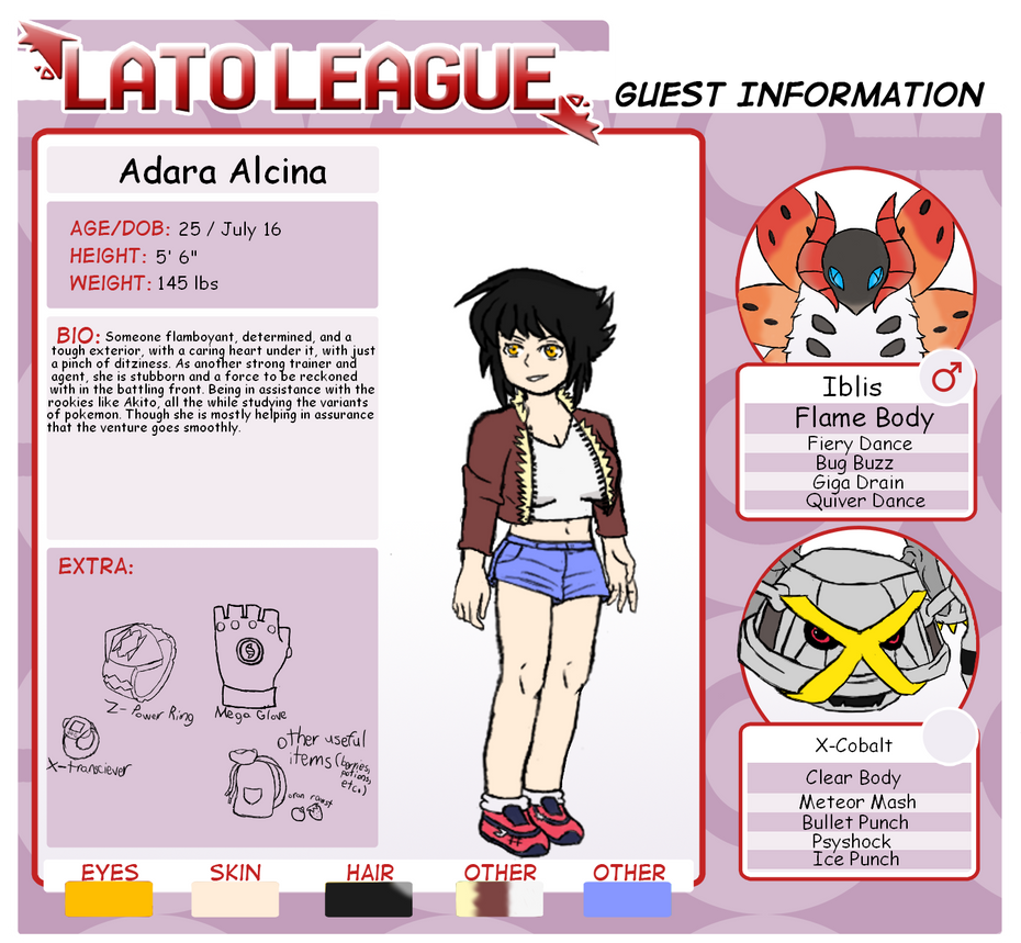 Lato league Guest: Adara Alcina by supersonicelsword
