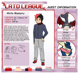 Lato League Guest: Akito Mamoru by supersonicelsword