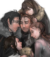 Game of Thrones The Starks by MARYMARU