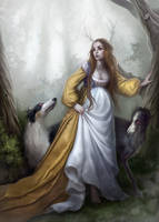 Sadhbh the mother of Oisin by nastya-orekhova