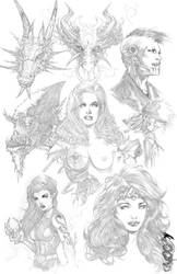 Pencil Madness Print by Blasterkid