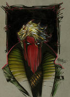 Grifter color paper drawing by Blasterkid