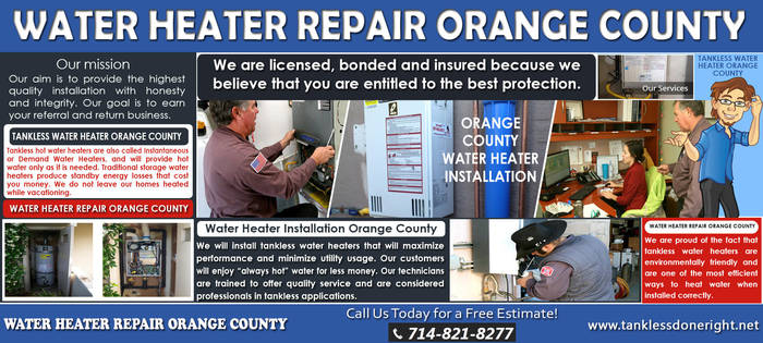 Water Heater Installation Orange County by Tankless-WaterHeater