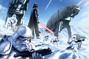 Star Wars Hoth Battle by pierreloyvet