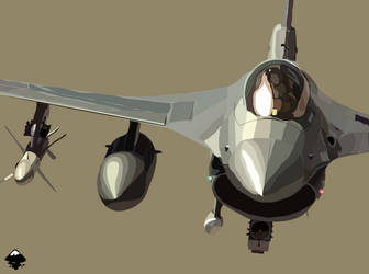 f-16 fighting falcon by Simarilius