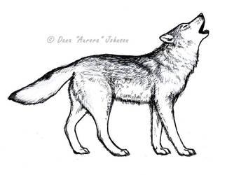 Howling Wolf by AuroraWolf