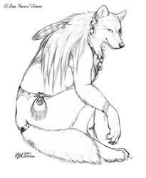 Tribal Wolf by AuroraWolf