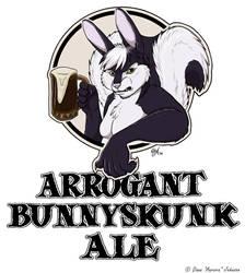 Arrogant Bunnyskunk Ale by AuroraWolf
