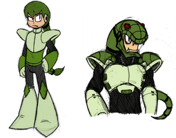 Snakeman doodles by Chloemew4ever