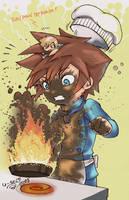 KingdomKisses Soras LittleChef by Sho-chan9